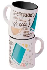 Felicidad: una taza de café y un buen libro